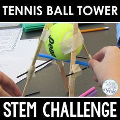 STEM Challenge Tennis Ball Tower by Teachers Are Terrific Tennis Rules, Stem Challenges, Engineering Challenges, Stem Teacher, Tennis Elbow, Play Tennis, Project Based Learning, Tennis Players, Masking Tape