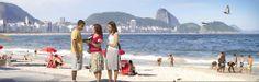 Playa de Copacabana (Río de Janeiro, Brasil): hablando de la Biblia con un lugareño