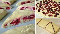 Křehoučké trojúhelníky plněné ovocem | NejRecept.cz Pie Dessert, Sweet Cakes, Sweet And Salty, Camembert Cheese, Sweet Tooth, Muffins, Sweets, Ethnic Recipes, Food