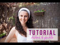 Vídeo tutorial: Cómo hacer una diadema para el pelo o vincha de ganchillo   how to crochet a headband