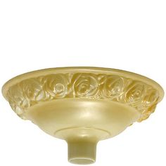 GLASS TORCHIERE SHADE,  NUGOLD W/EMBOSSED ROSES DIA. 16 Lamp Shades, Punch Bowls, Decorative Bowls, Lighting, Tableware, Glass, Roses, Diy, Home Decor