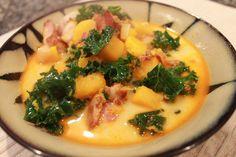 Bacon Butternut Squash Soup with Chorizo