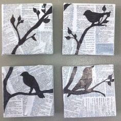 absolute LOVE!!! the words behind the black silhouette birds in a tree is TOTALLY what I would LOVE!