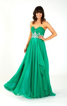 Lovely green prom dress by Crystal Breeze