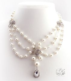 Hey, I found this really awesome Etsy listing at https://www.etsy.com/listing/112754248/wedding-necklace-victorian-style-bridal