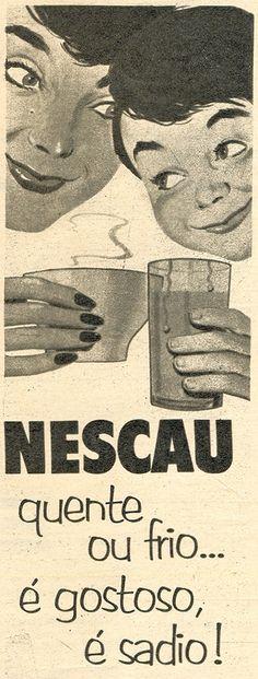 NESCAU. Vintage Advertising Posters, Vintage Advertisements, Vintage Ads, Vintage Posters, Vintage Antiques, The Time Tunnel, Nostalgia, Old Ads, Vintage Market