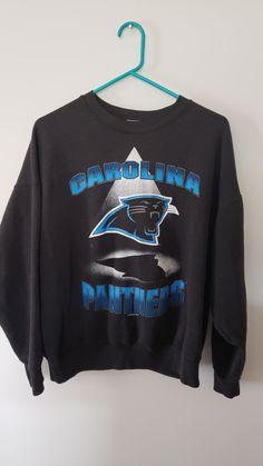 8e7c6642d Vintage 90 s NFL Carolina Panthers Crewneck Sweatshirt - Size XL Graphic  Shirt Trendy Old School Classic