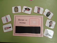 Portada del libro Para que los niños aprendan vocabulario pirata he creado dos materiales para el rincón de las letras: * El libro de ...
