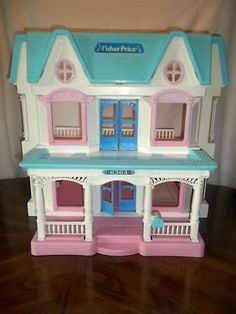THIS is reason #7843 I shouldn't pin when I'm being hormonal.  Because I see this dollhouse--I had/have one exactly like it---and want to start crying, for real.  This dollhouse WAS my childhood!