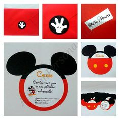 Convite Cabeça Mickey