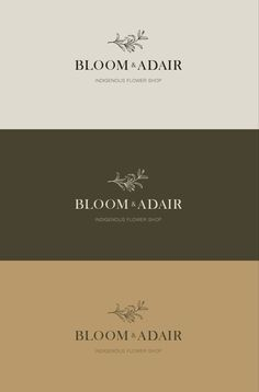 Branding for Bloom and Adair. Logos, brand colour palette, Illustrations and more. Brand Identity Design, Brand Design, Palette, Bloom, Cards Against Humanity, Branding, Colours, Illustrations, Graphic Design
