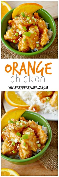 Orange Chicken- beats take out any day, and can be made into a freezer friendly version for quick prep on busy nights. Our absolute FAVORITE recipe! - Eazy Peazy Mealz
