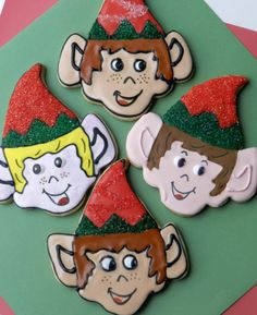 2012 Christmas Elves...how to make Elve cookies using a variety of cookie cutters!