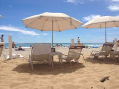The beach in front of the Moana Surfrider is one of only two private beaches on Waikiki