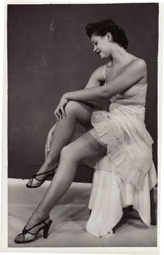 Vintage Slip & Stockings