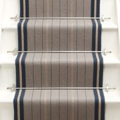 Higherground supply and fit your Roger Oates Trent Airforce carpet stair runner throughout Surrey, Sussex and London - Call us today White Staircase, Staircase Runner, Stair Runners, Staircase Ideas, Hallway Ideas, White Hallway, Hallway Decorating, Entryway Decor, Entry Stairs