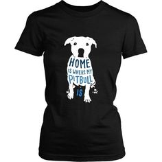 Home is where my Pitbull is [ver2] Dogs T-shirt