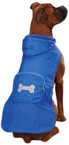 Casual Canine Fleece Lined Stowaway Rain Jacket, Small, Blue by Leynas Pup Palace, LLC * Don't get left behind, see this great dog product : Dog coats