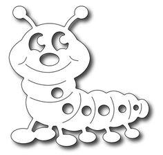 Frantic Stamper Precision Die - Cute Caterpillar