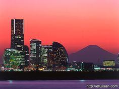 横浜みなとみらいと富士