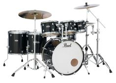 Pearl Decade Maple Shell Pack - 7pc - Black Ice Lacquer image 1