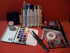 another of Liz Steel's (borromini bear) watercolor sketching kits