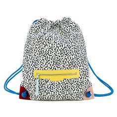You can always fail better. Backpack Bags, Drawstring Backpack, Tote Bag, Sac Week End, Memphis Design, Fabric Bags, Lv Bags, Bag Making, Bunt