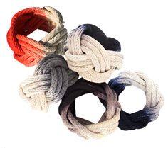 Nautical themes dip de rope bracelets