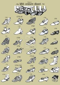 18th Century Shoes - which one would you wear?