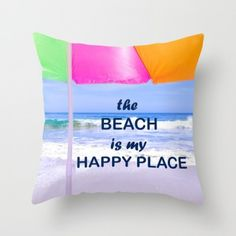 Positive ocean/beach throw pillow cover. Take a piece of summer in your house! #pillow #throwpillowcover #pillowcase #pillowcover #ocean #beach #oceanpillowcover #aqua #beachpillowcover #ellensmilephoto