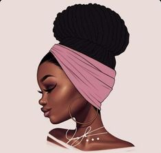Ideas For Black Art Afro Inspiration Art Black Love, Black Girl Art, Black Is Beautiful, Black Girl Magic, Natural Hair Art, Natural Hair Styles, Art Afro Au Naturel, Drawings Of Black Girls, Black Girl Cartoon
