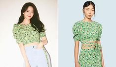 Yoona, Snsd, Fashion Brand, Fashion Show, Slim And Fit, Light Blue Jeans, Floral Crop Tops, One Piece Dress, Girls Generation