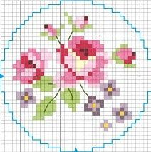 cross stitch chart(sweet roses) | REPINNED