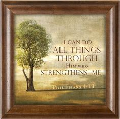 Elanze Designs Him Who Strengthens Me Tree on a Hill Phil. Wood Finish 12 x 12 Framed Art Wall Plaque Framed Wall Art, Framed Prints, Art Prints, 10 Picture, Inspirational Wall Art, Beach Art, Wall Plaques, Real Wood, Canvas Art