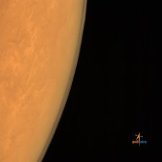 India's first Mars orbiter Mangalyaan captured this photo of the Martian atmosphere just after arriving at Mars on Sept. 24, 2014 Indian Standard Time. The Indian Space Research Organisation released the image on Sept. 25. - Credit: Indian Space Research Organisation