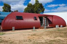 YIEKS!! RED COLORBOND NISSAN HUT STYLE HOME