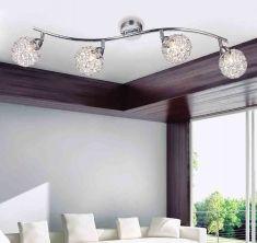 Interior lamparas de techo sala moderna l mparas for Plafones clasicos