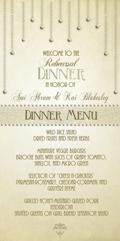 Wedding Rehearsal Dinner Menu Ideas | Wedding Gallery
