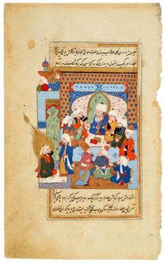 Khiżr Attends a Sermon by Rūmī   Sermon by Rūmī   The Morgan Library & Museum