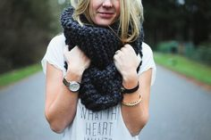 chunky scarf, accessories