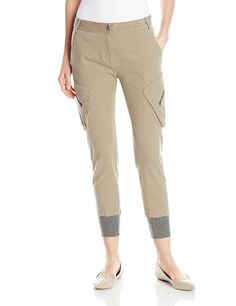James Jeans Women's Boyfrend Slouch Fit Utility Cargo Pant In Desert Taupe *** Read more  at the image link.