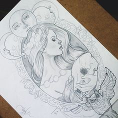 .@wendyortizart | Concept sketch for a commissioned tattoo design ☪ | Webstagram - the best Instagram viewer