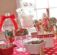 Great candy buffet for a Christmas Party