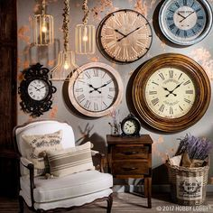 Is it time to make a statement in your space? Gorgeous wall clocks provide around-the-clock style.