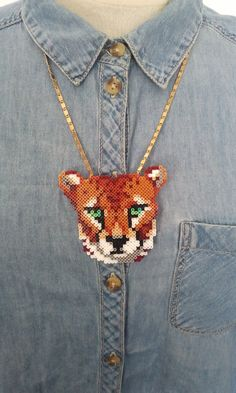 Cheetah Necklace hama beads by tructoc