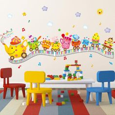 Cheap art for kids, Buy Quality wall sticker cartoon directly from China train wall sticker Suppliers: [SHIJUEHEZI] Creative Cups Train Wall Stickers Cartoon Style Waterproof DIY Mural Art for Kids Room Nursery School Decoration Wall Stickers Cartoon, Removable Wall Stickers, Wall Stickers Murals, Vinyl Wall Art, Flower Mural, School Decorations, Childrens Room Decor, Mother And Child, Cartoon Styles