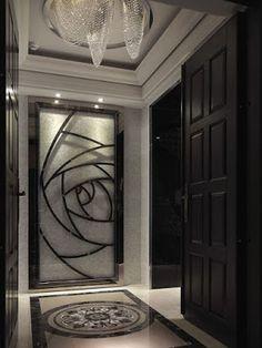 Decor Units: Top 40 Modern Wooden Door Designs for Home 2018 Door Design Interior, Lobby Interior, Luxury Interior, Modern Interior, Modern Luxury, Entrance Design, Entry Doors For Sale, Wood Entry Doors, Modern Wooden Doors