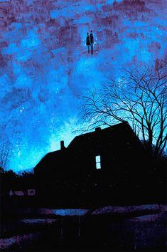 Daniel Danger - illustrator from New England Nocturne, Ghibli, Fantasy Landscape, Fantasy Art, Dark Art, Just In Case, Illustrators, Concept Art, Art Photography