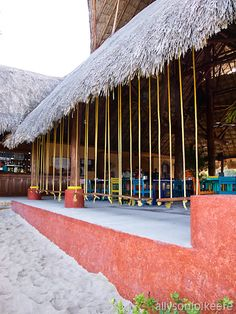 My favorite beach and beach restaurant in Cozumel.  Mr. Sancho's.
