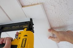 cover textured or popcorn ceiling with planks